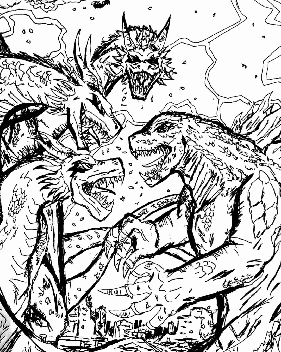 King Ghidorah Coloring Pages New ...pinterest.com
