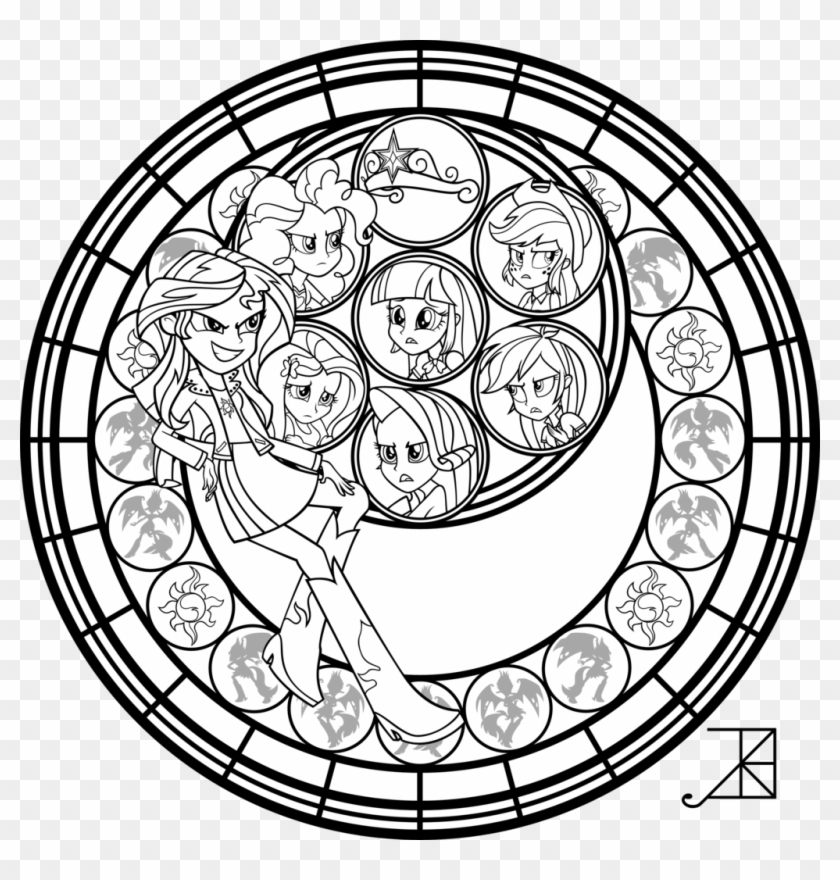 Stained Glass Clipart Coloring Page - My Little Pony Equestria -  Coloring Home