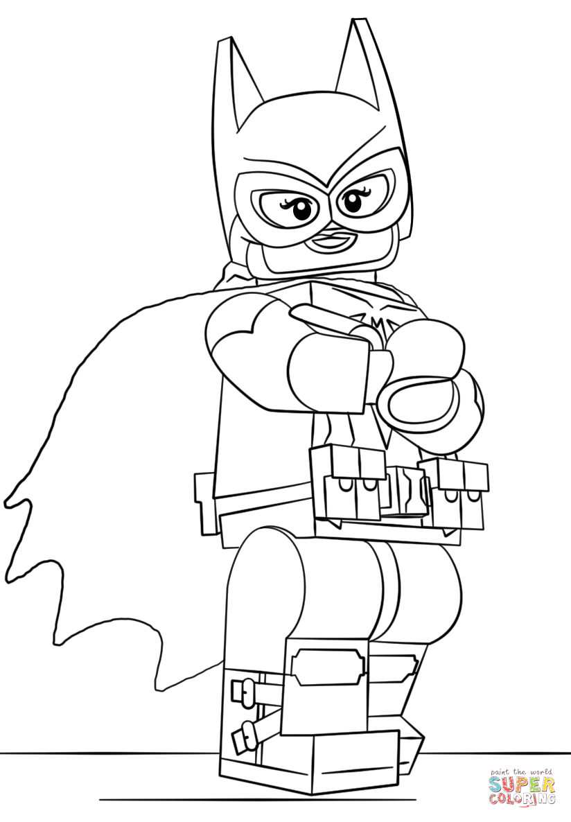 Lego Batgirl coloring page | Free Printable Coloring Pages