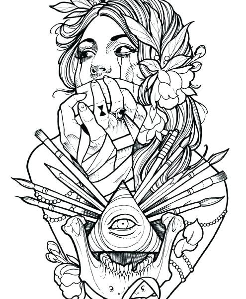 Tattoos Coloring Pages - Coloring Home