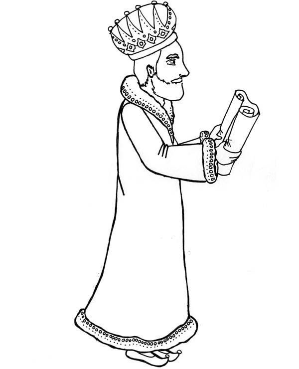 Scroll coloring page coloring home for King josiah coloring page