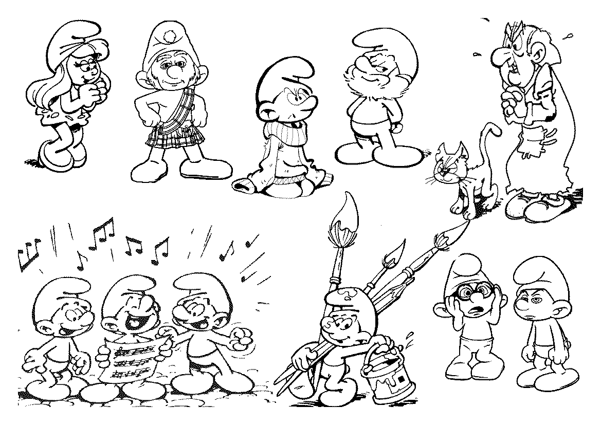 Free Smurfs Drawing, Download Free Clip Art, Free Clip Art on ... | 827x1169