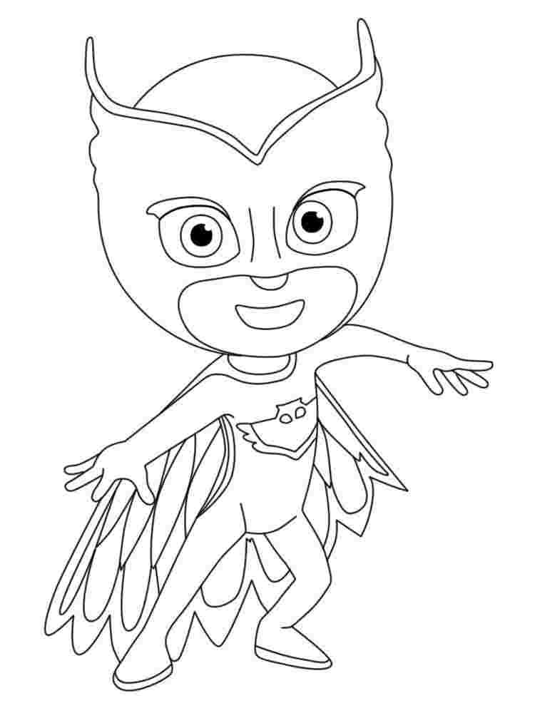 Pj Masks Coloring Pages Owlette 14 Best Pjmasks Heroes En Pijamas Coloring Home