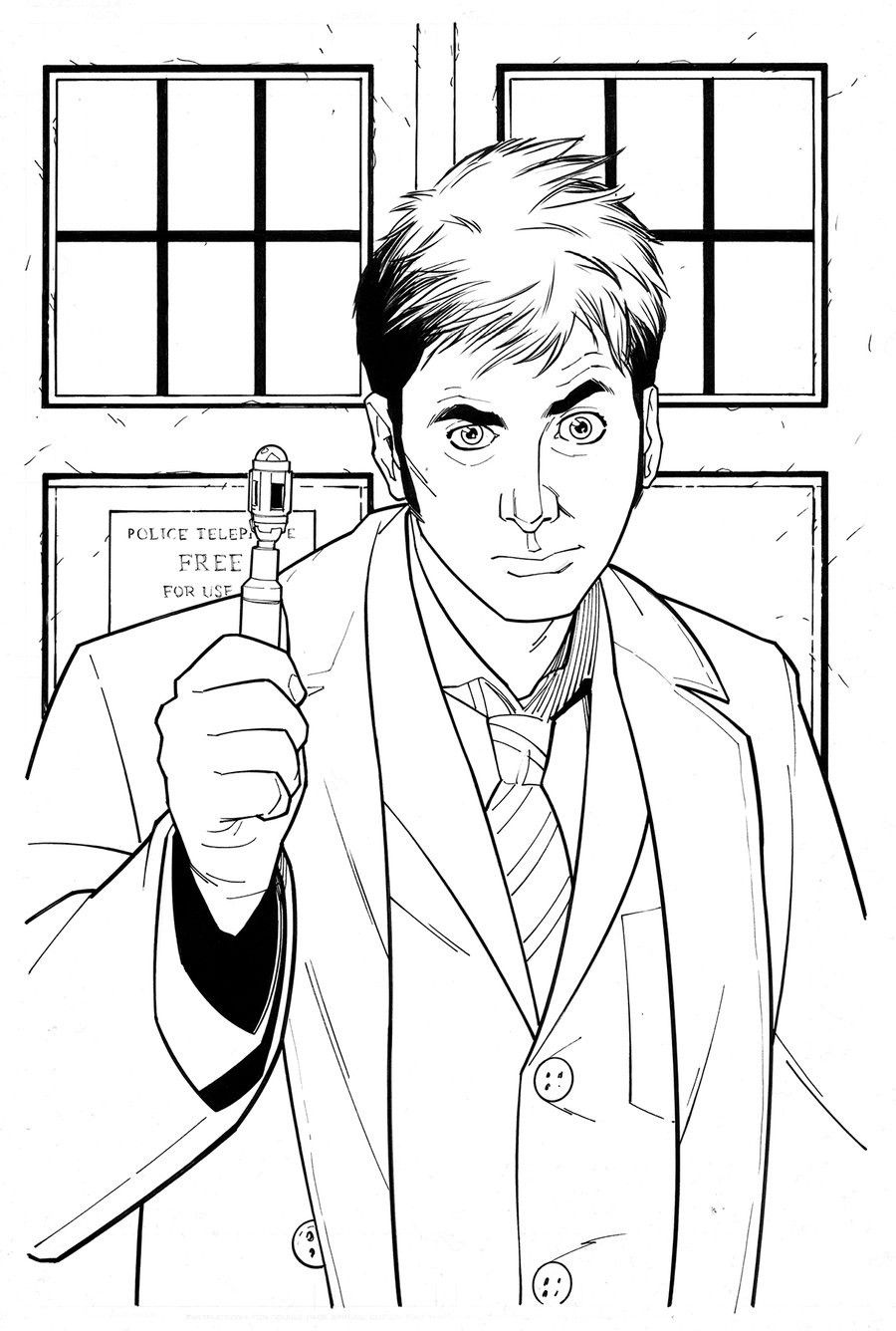 Doctor who coloring pages coloring home for Coloring page doctor