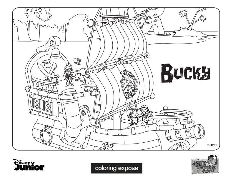 Jake And The Never Land Pirates Coloring Pages  Coloring Home