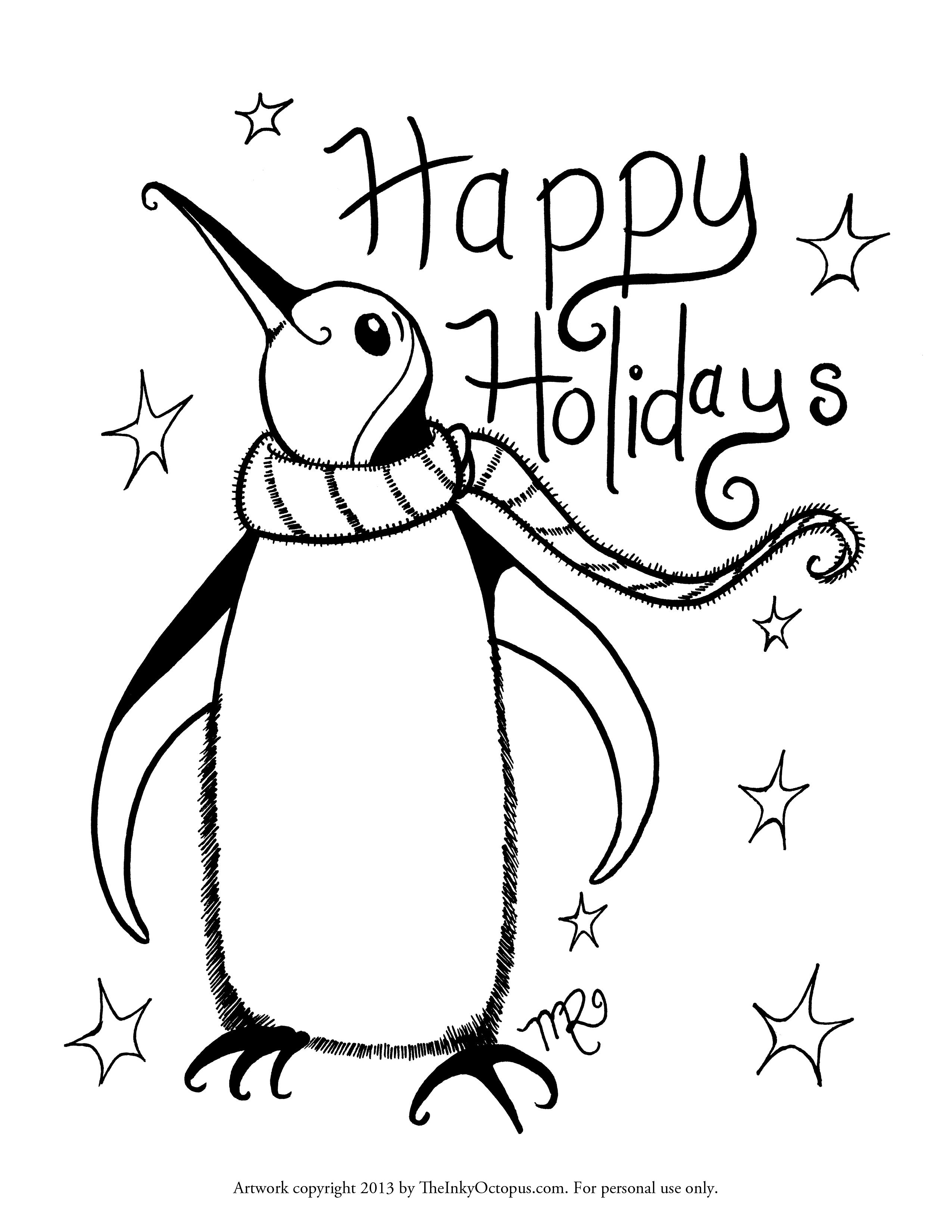 Holiday Coloring Pages   Coloring Pages For Kids   Coloring Home