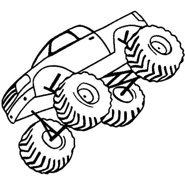 easy monster truck coloring pages - photo#9