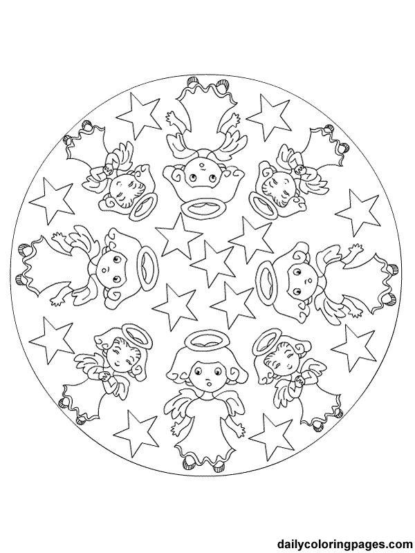 christmas mandala coloring pages - photo#13