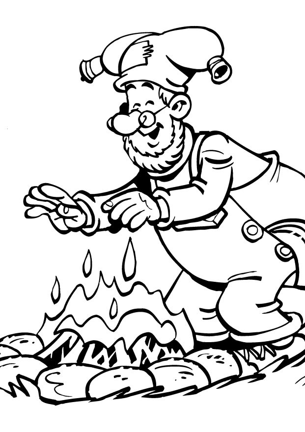 Kleurplaat Kabouter Plop Kwebbel Plop The Gnome Coloring Pages Coloring Home