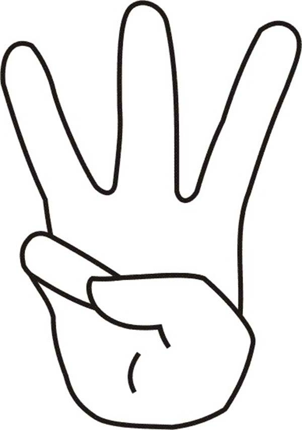 coloring pages counting fingers - photo#20