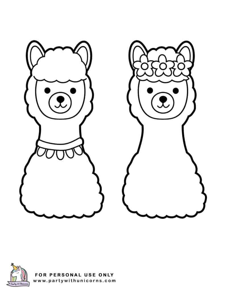 Lama Coloring Pages   Coloring Home