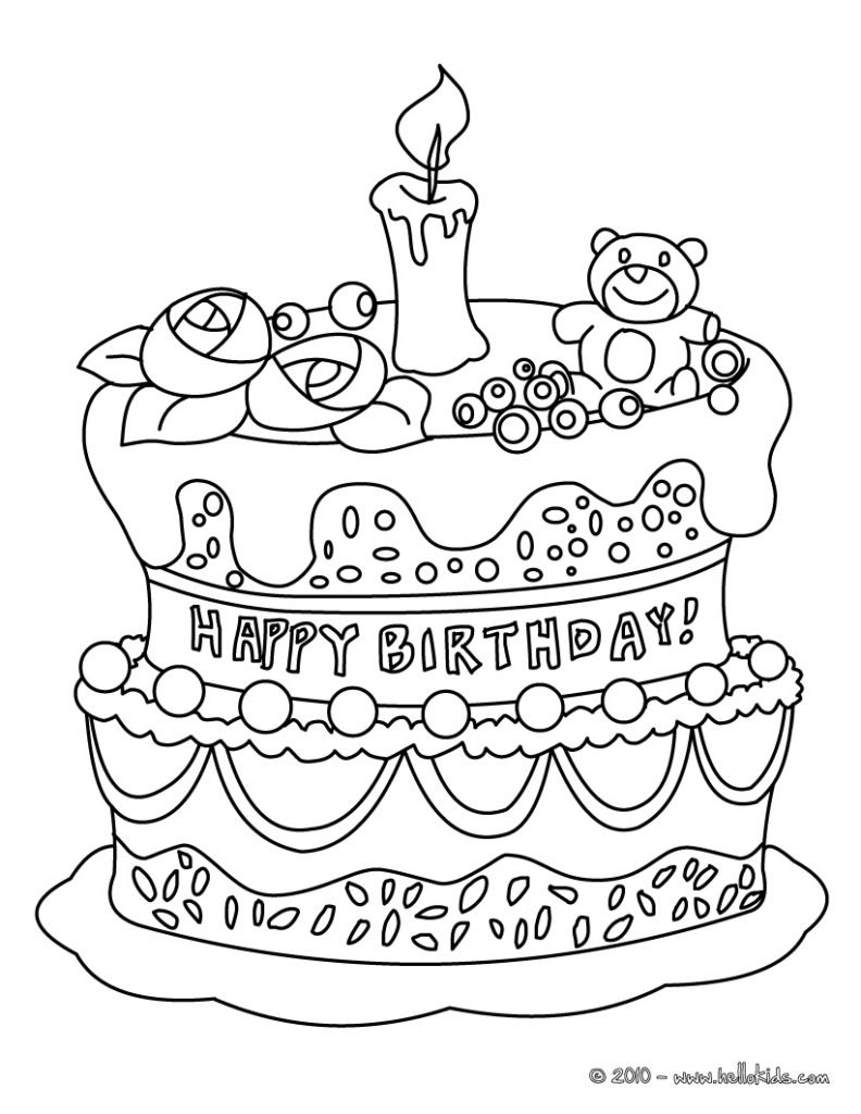 Happy Birthday Coloring Pages ...coloring.rocks