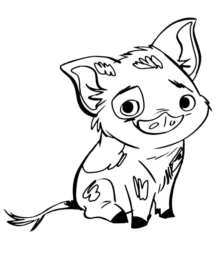 Cute Pua Pig Coloring Page - Free ...coloringonly.com