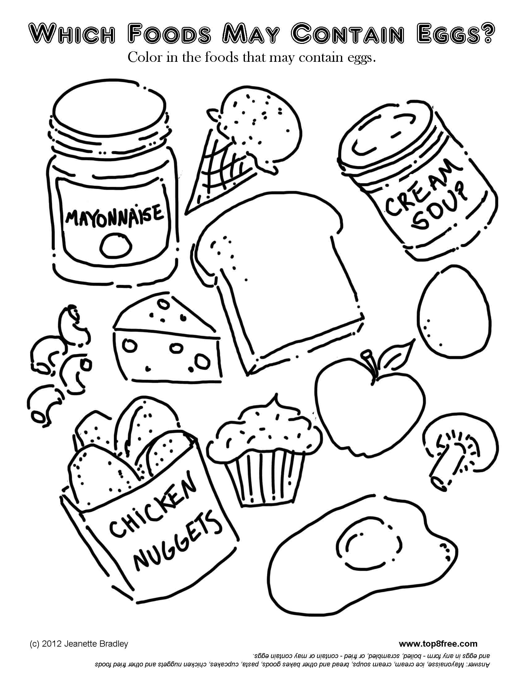 Free printable coloring pages food - Food Coloring Pages Printable Free High Quality Coloring Pages