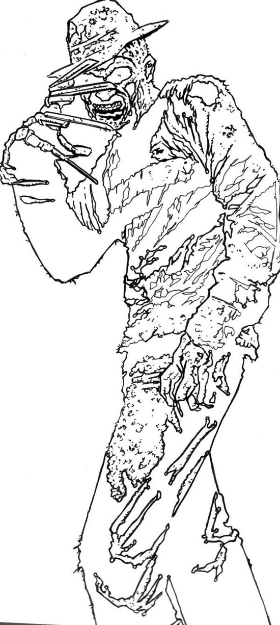 coloring pages from horror movies - photo#7