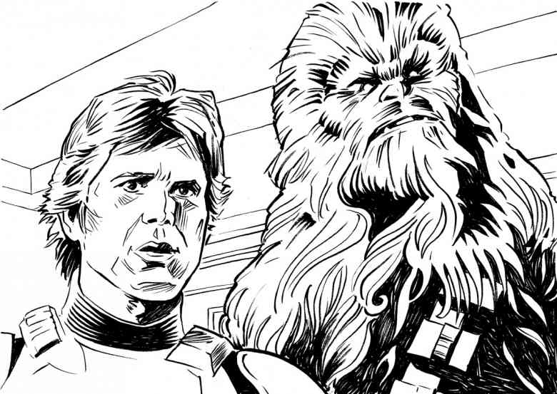 Chewbacca Coloring Page Home