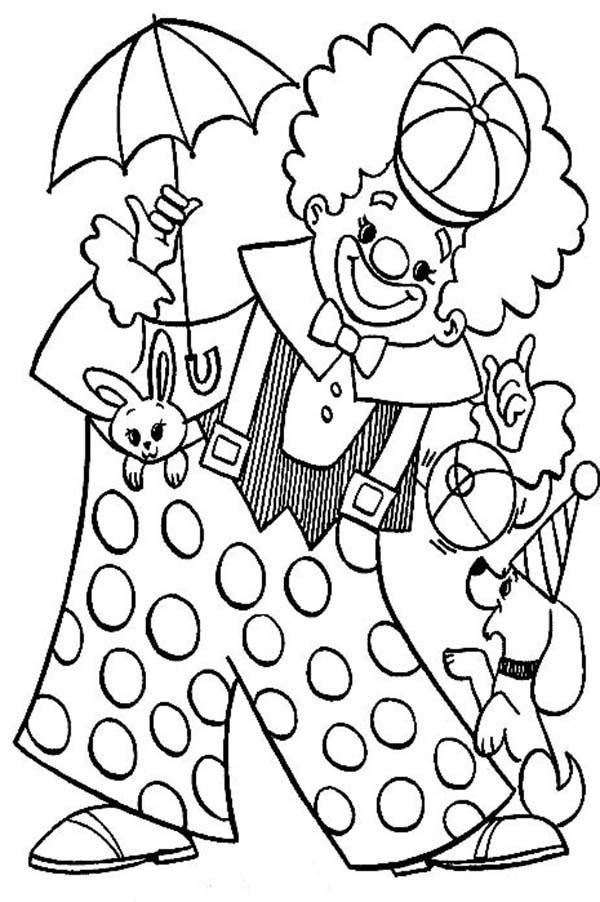 Circus - Free printable Coloring pages for kids | 902x600