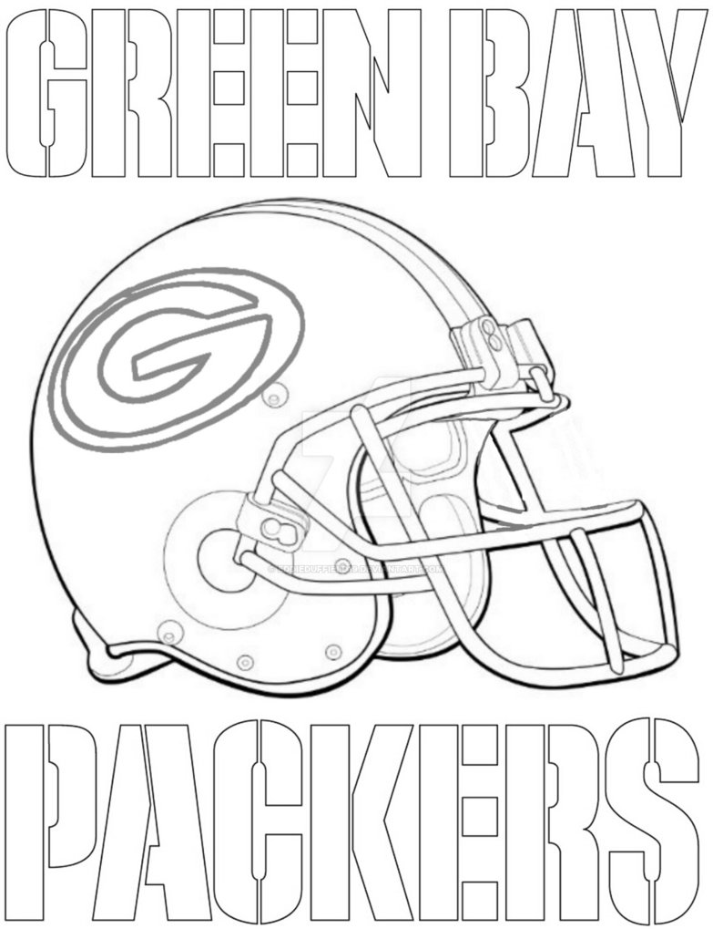 Green Bay Packers Coloring Page Coloring Home