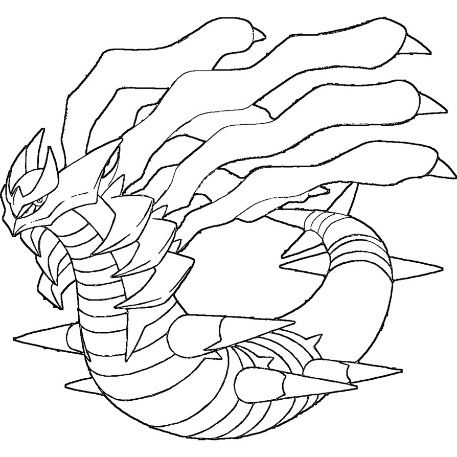 Uncategorized Giratina Coloring Pages giratina coloring page home page