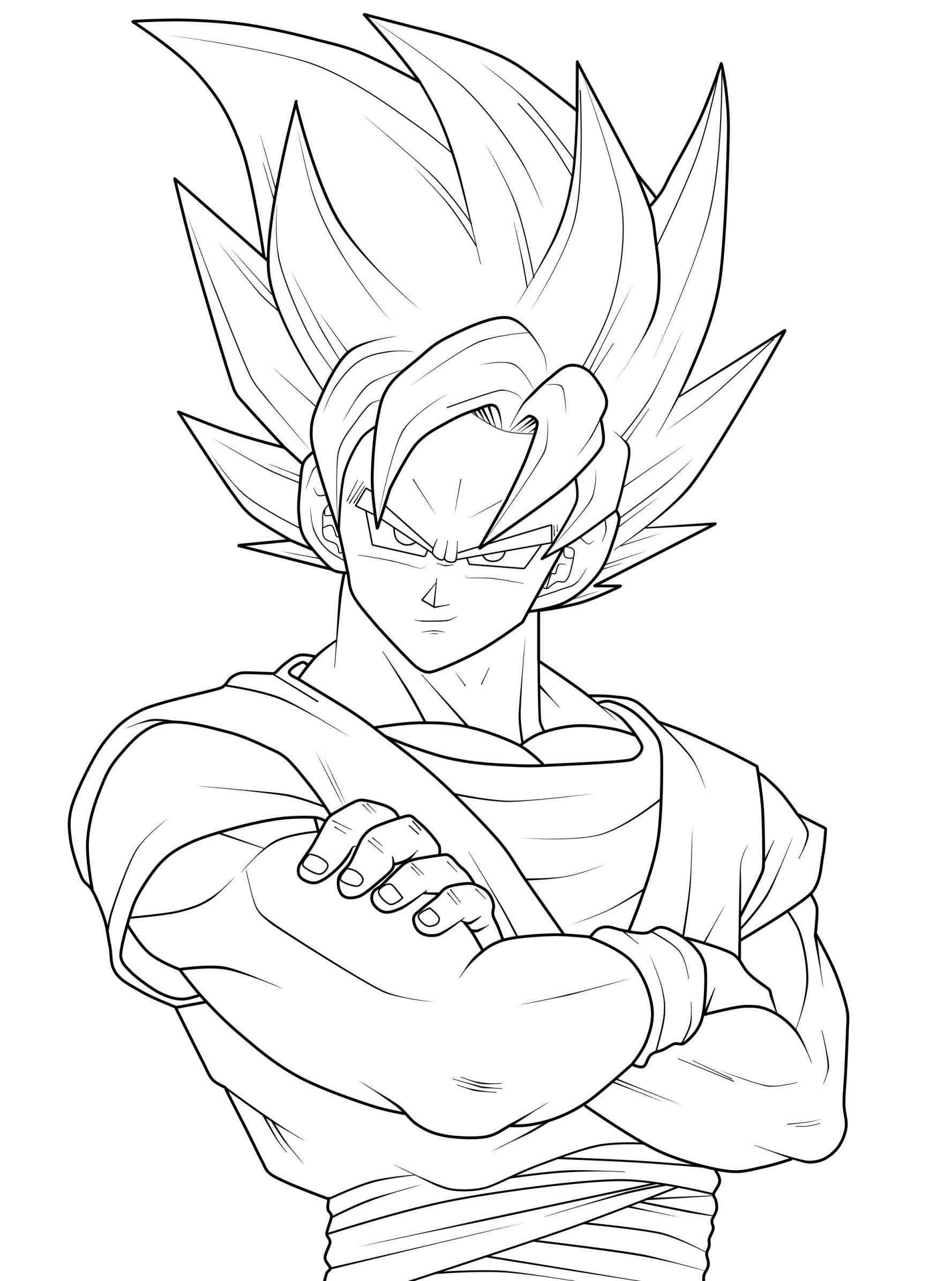 dragon ball z goku super saiyan 4 coloring pages - anime pictures