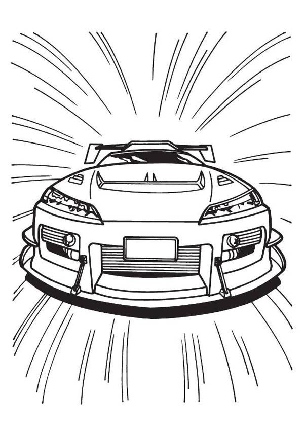 Speed Car Coloring Pages Coloring