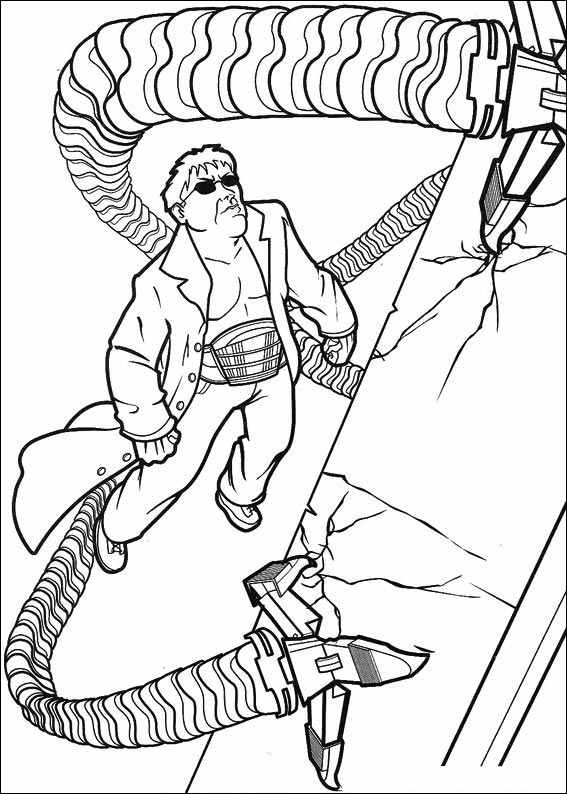 Spiderman Doc Ock Coloring Page - Coloring Home