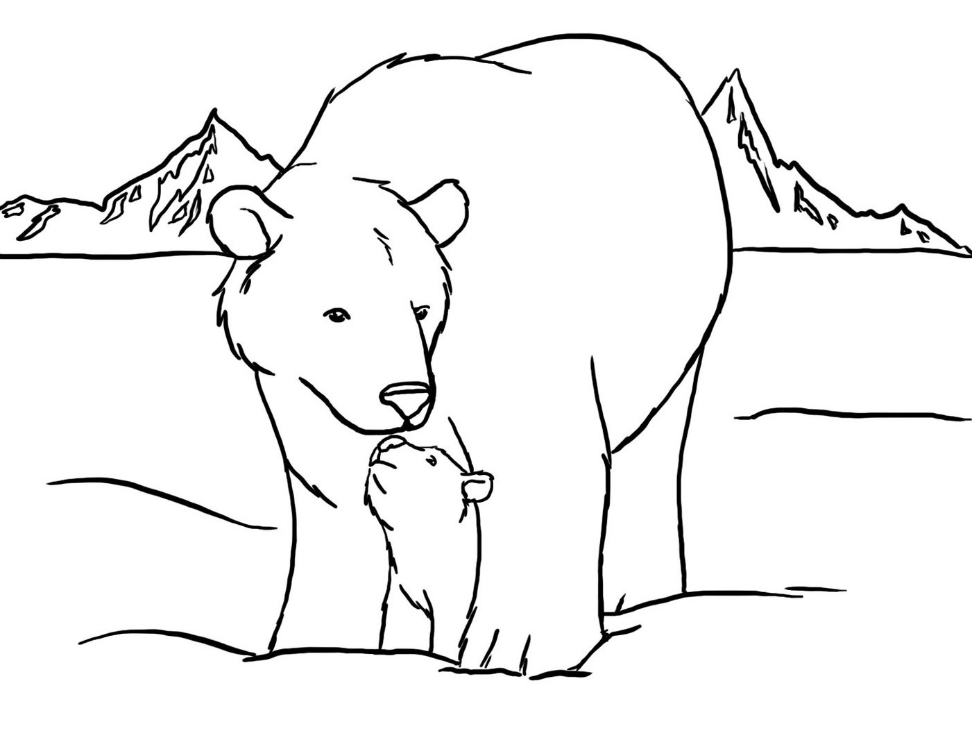 Baby polar bear coloring pages az coloring pages for Coloring pages polar bear