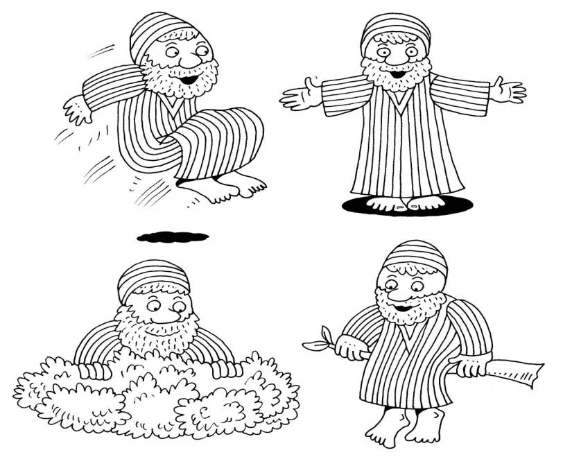 Coloring Pages For Zacchaeus : Zacchaeus coloring pages az