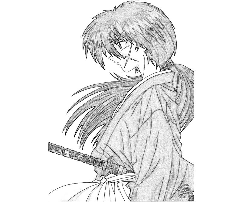 coloring pages for rurouni kenshin - photo#4