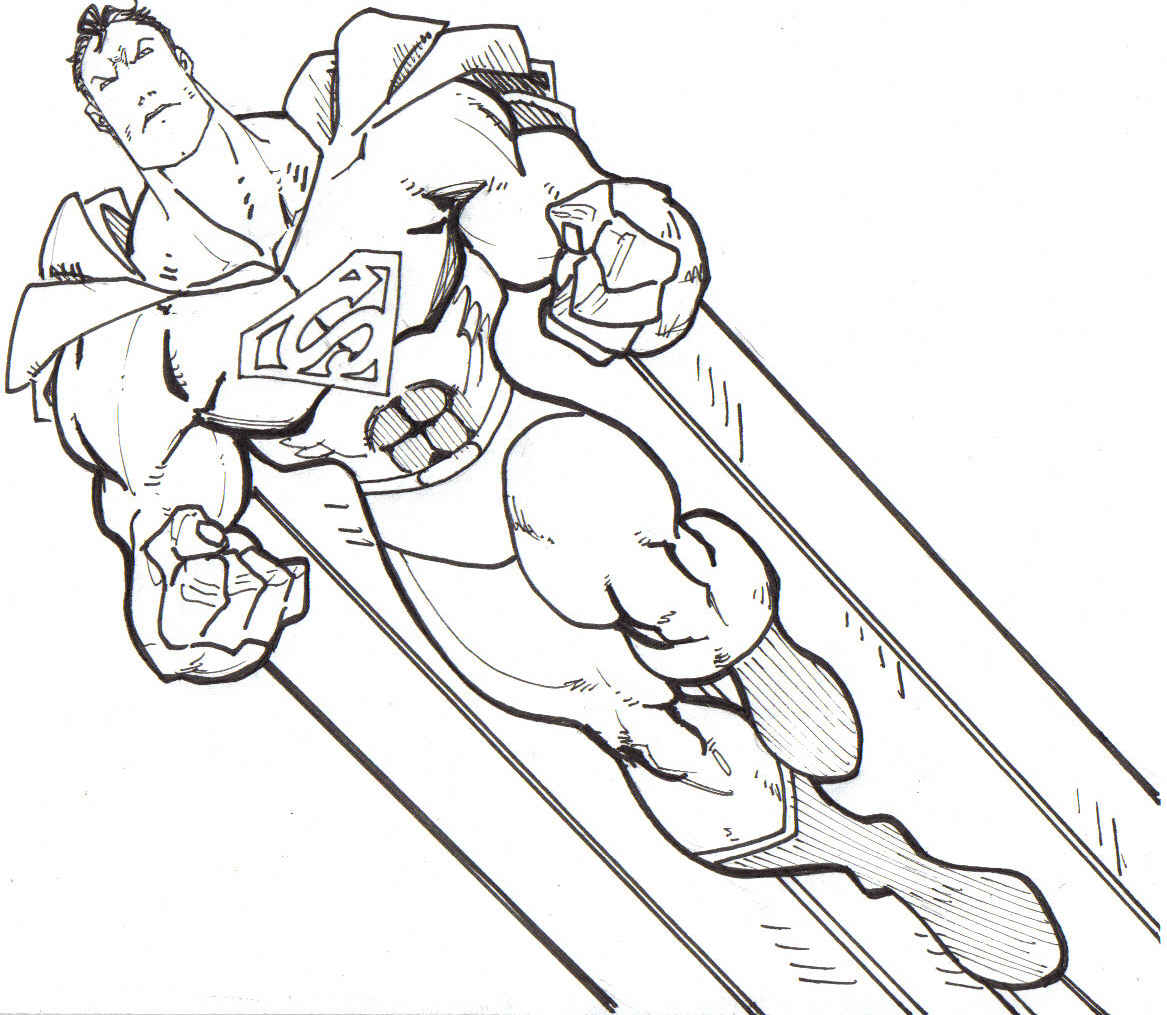 Superman Easy Coloring Pages Coloring Home