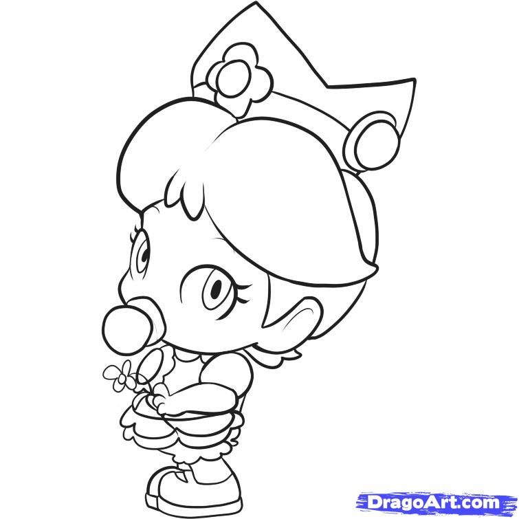 princess peach coloring pages to print free - coloring home - Baby Princess Peach Coloring Pages