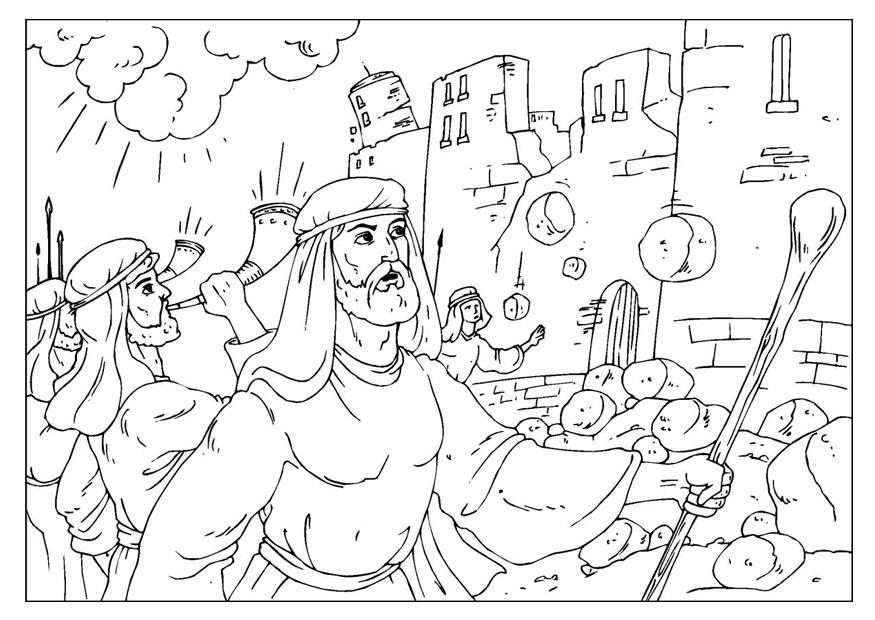 Joshua And The Battle Of Jericho Coloring Page 2764