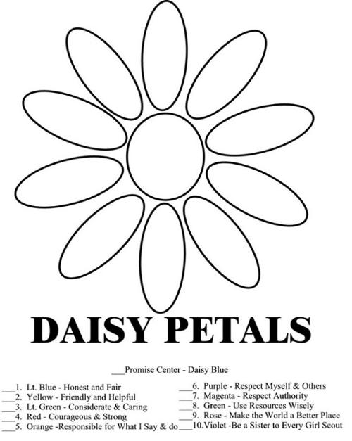 Girl Scout Daisy Coloring Pages Free
