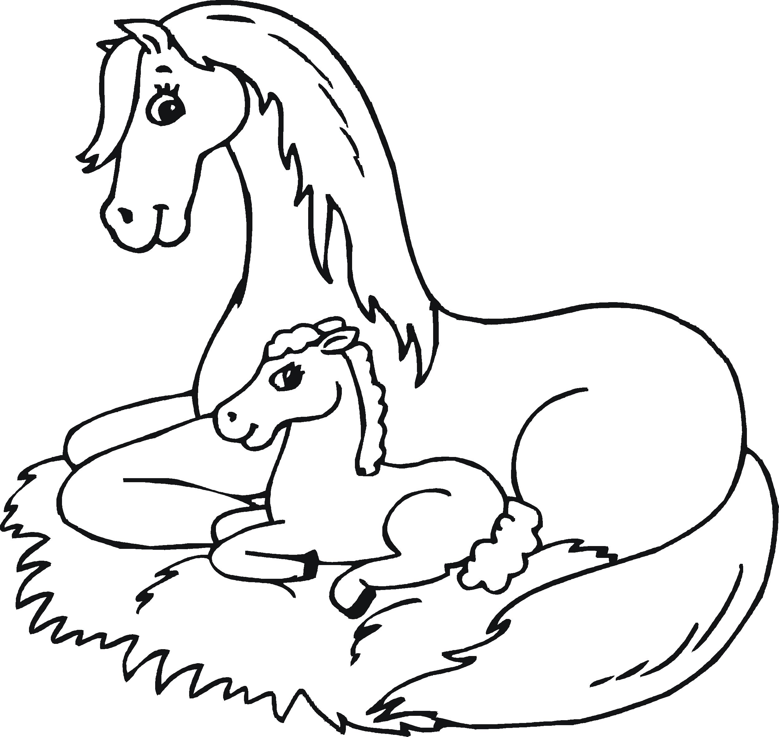 Baby Horses Coloring Pages - Coloring Home