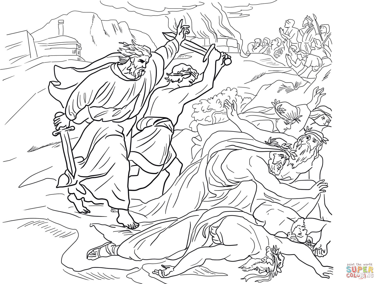 Free coloring pages elijah goes to heaven - Prophet Elijah Coloring Pages Prophet Elijah Coloring Pages God