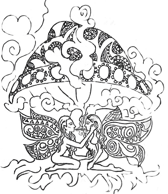 Delicate image intended for printable stoner coloring pages