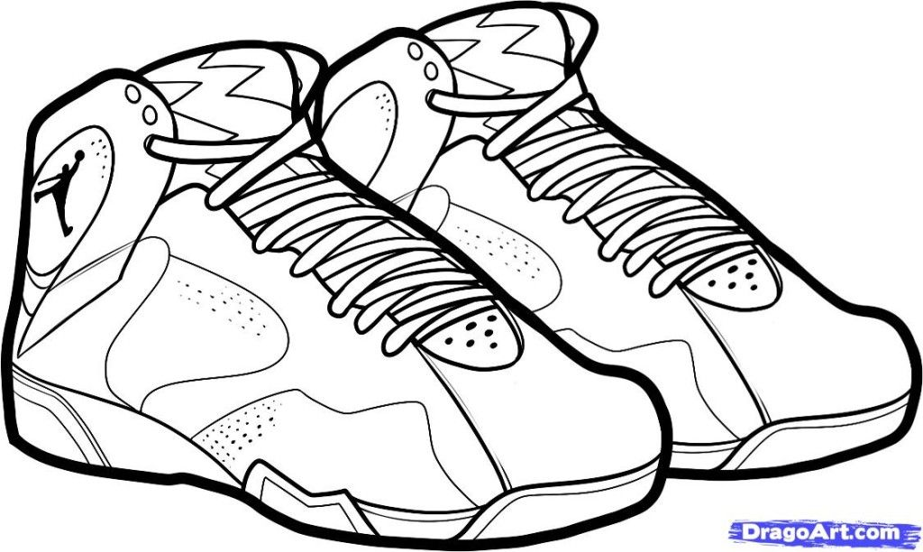 Basketball Shoes Coloring Pages Coloring Home