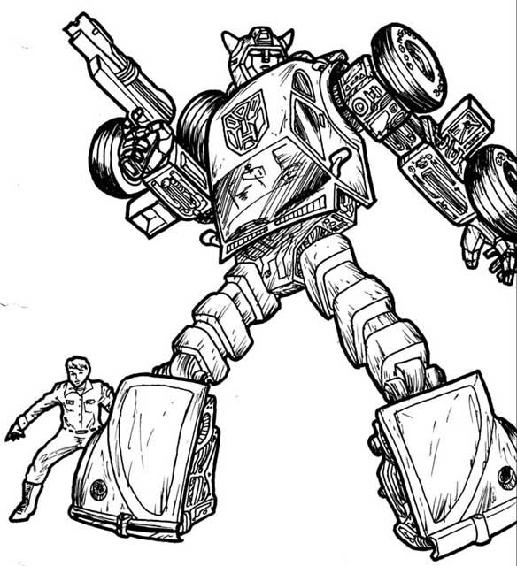 Transformer Robot In Disguise Bumblebee Coloring Pages ...
