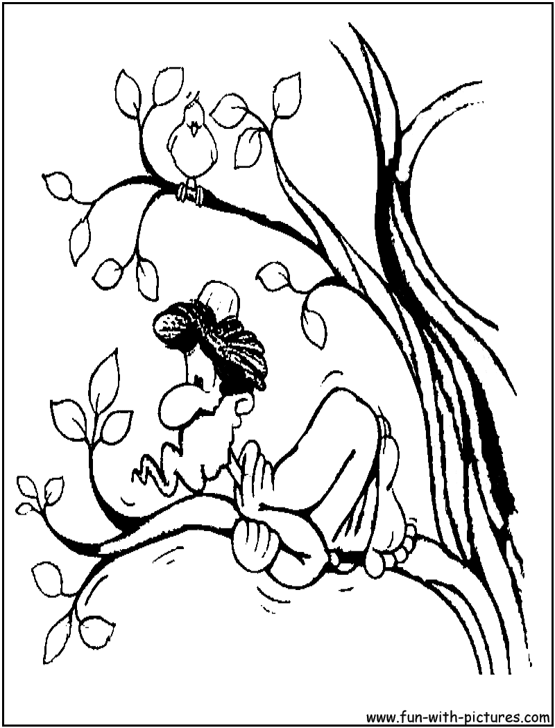 Zacchaeus Jesus Coloring Page Archives