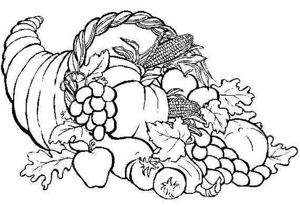 cornucopia thanksgiving coloring pages - photo#12