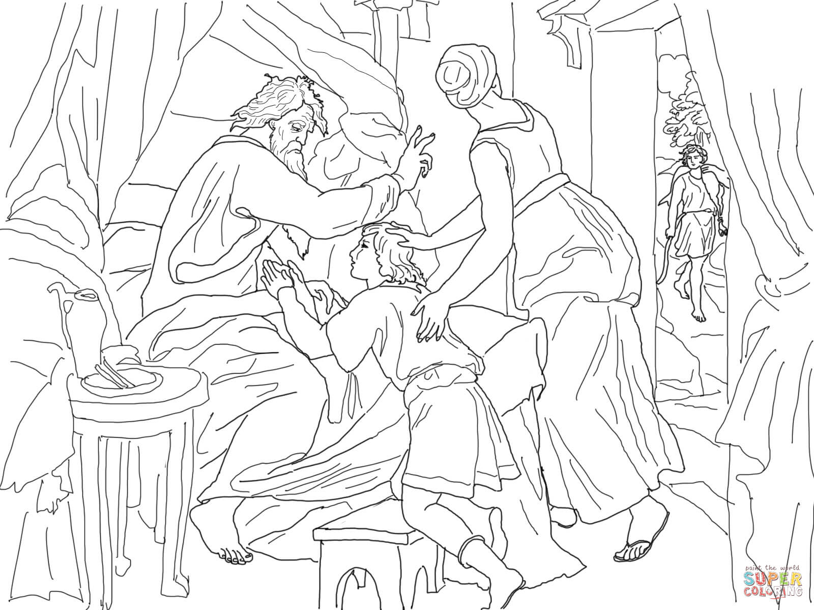 Free Coloring Pages, Jacob And Esau - Coloring Home