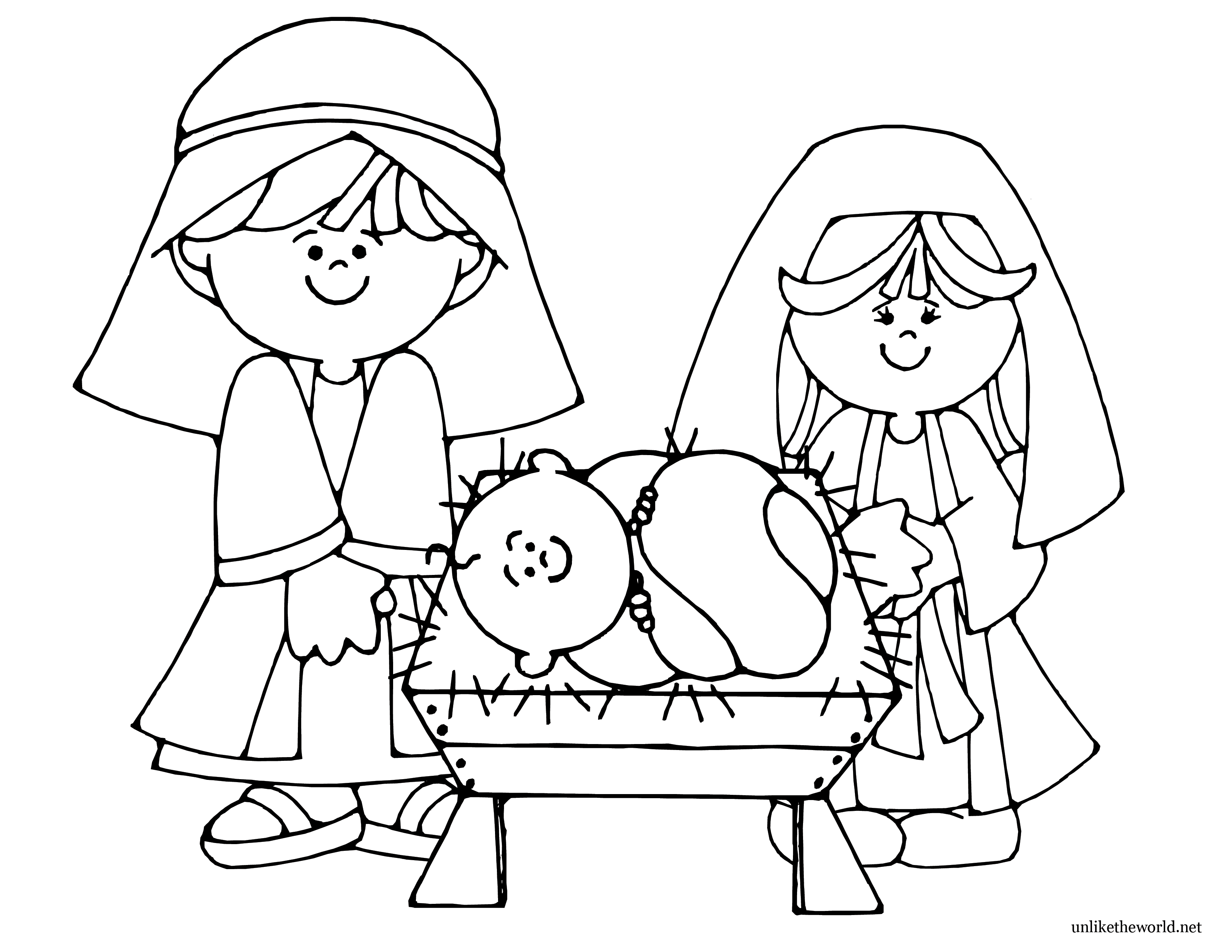 Free Nativity Coloring Pages Printable - Coloring Home