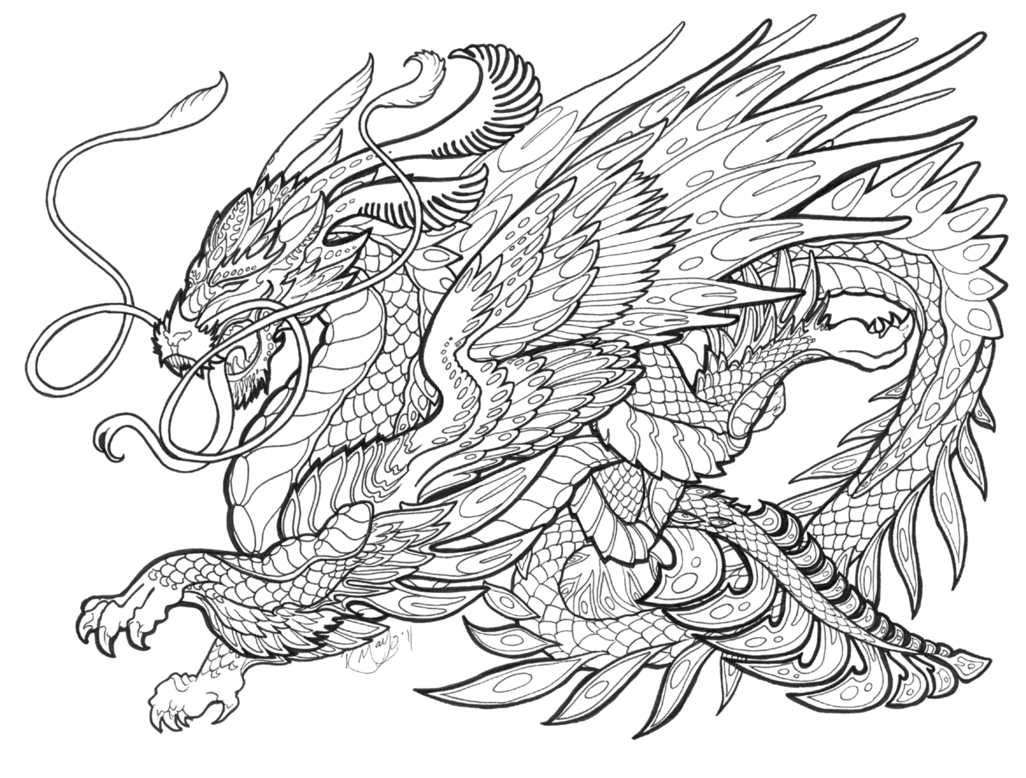 mythical creatures coloring pages to print | 11 Pics Of Printable Mystical Coloring Pages - Mythical ...