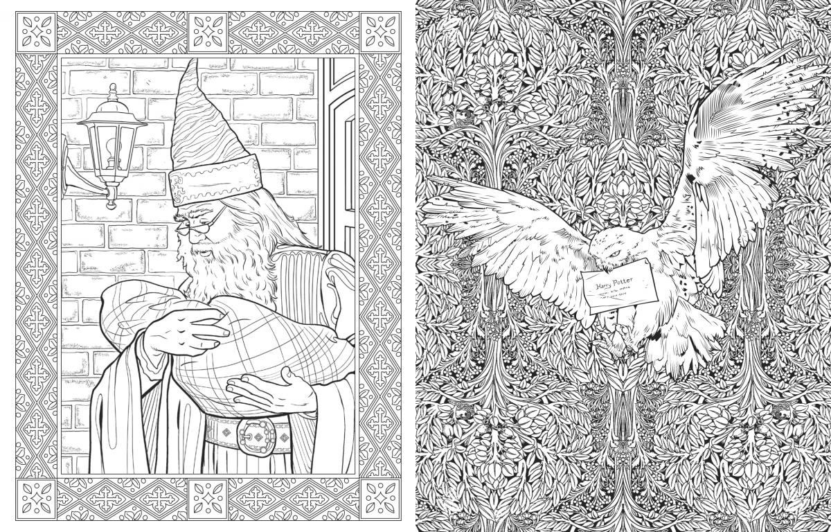 free harry potter coloring pages - harry potter adult coloring pages coloring home