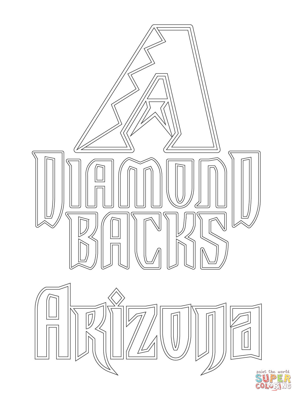 diamondbacks coloring pages for kids - photo#3