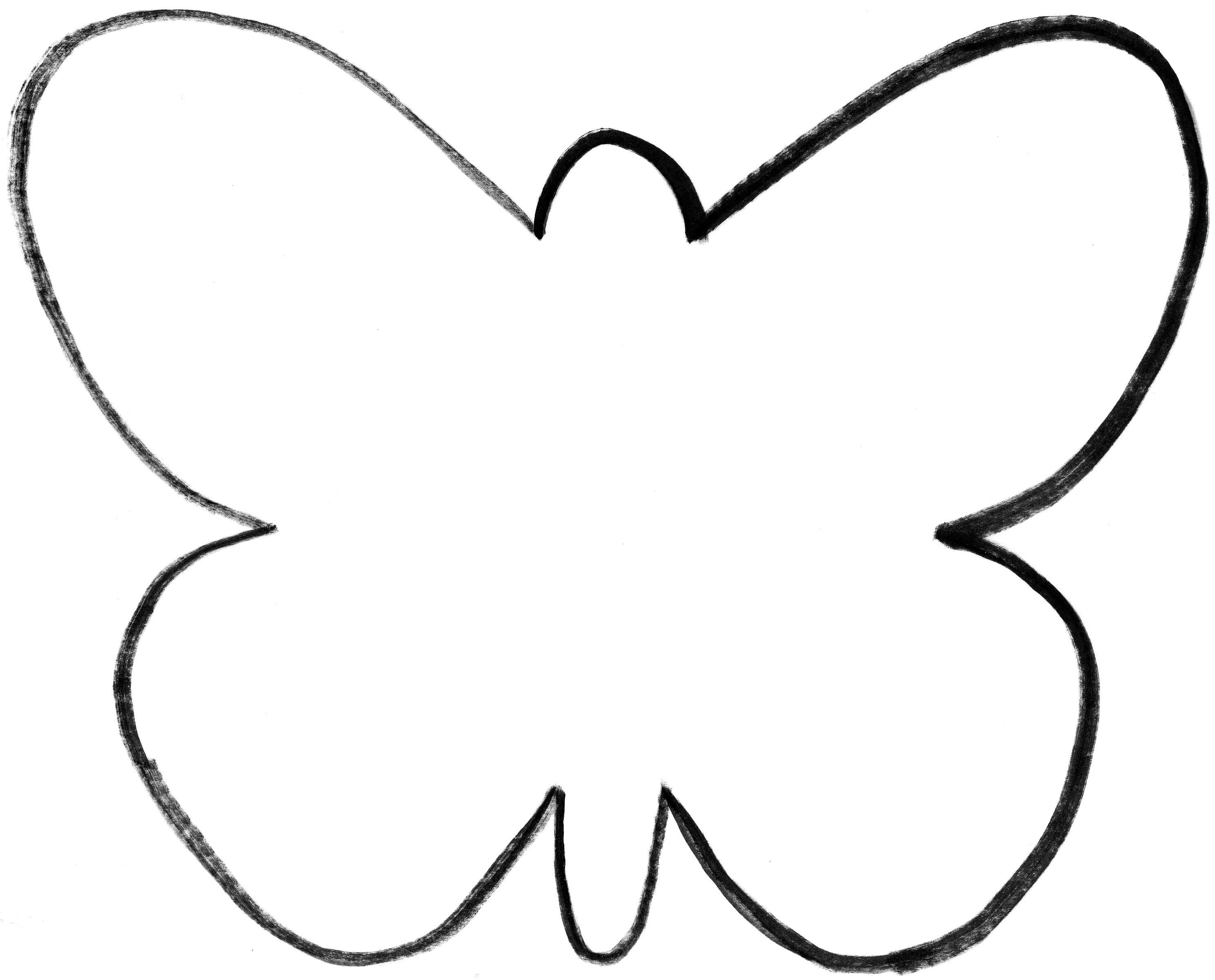 Butterfly template printable coloring pages for kids and for adults coloring home for Butterfly template pdf