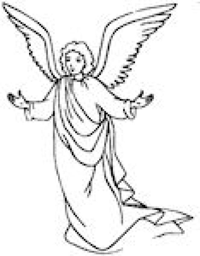 Angel With Praying Hands Coloring Page oloring Pages For All