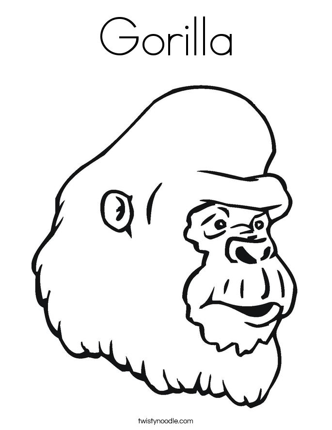 ape coloring page gorilla coloring home