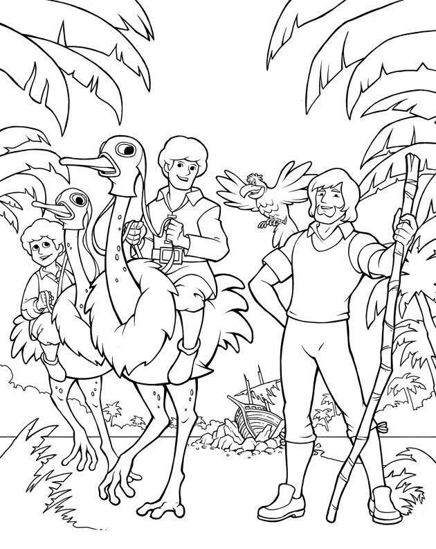 Swiss Family Robinson Coloring Page: Robinson Crusoe And Swiss ...
