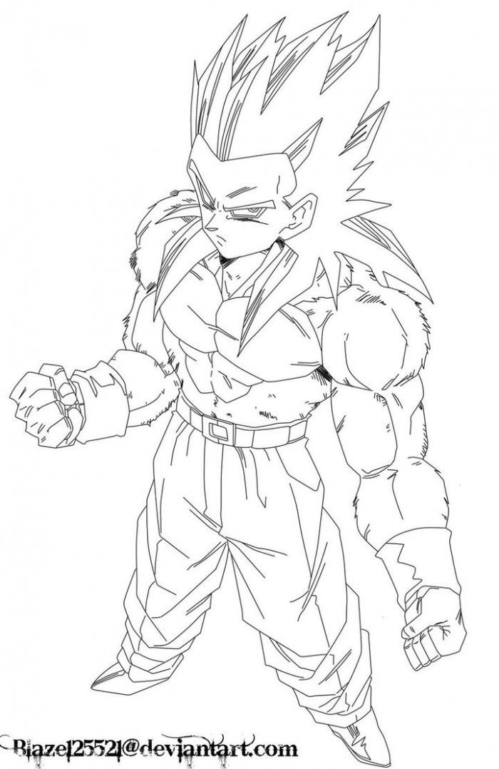 Ssj4 Gogeta Coloring Pages Coloring Home Gogeta Coloring Pages